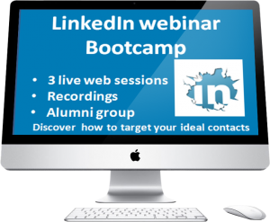 LinkedIn webinar bootcamp webinar screen