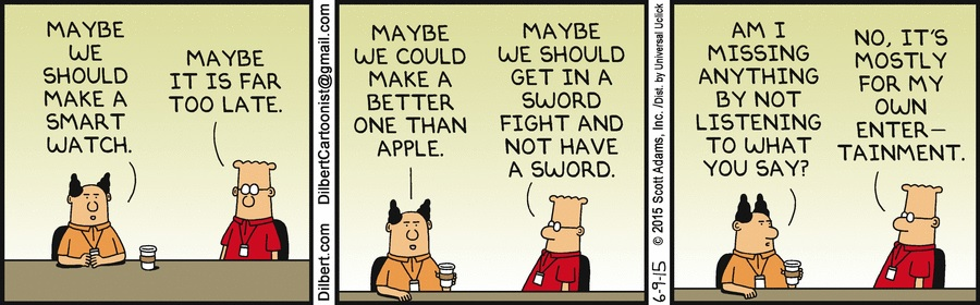 Dilbert - Apple watch