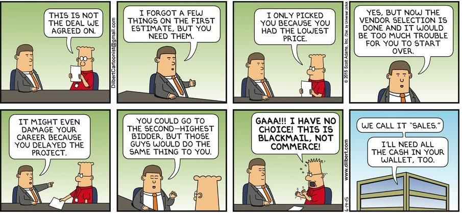 Dilbert - sales