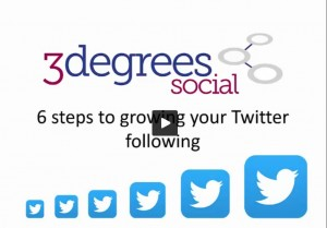 6 steps to grow your twitter following video screen