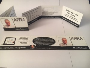 6 part PM business card