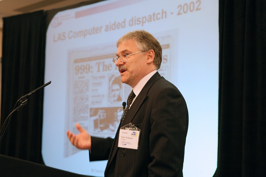 Allen ruddock speaking at a conference